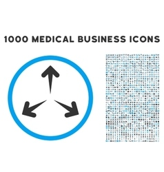 Expand Arrows Icon with 1000 Medical Business vector image