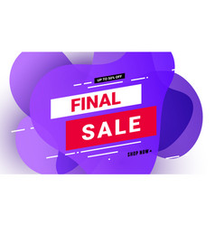 final sale banner special offer vector image