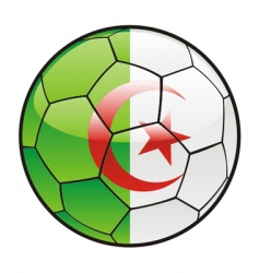 Flag of Algeria on soccer ball vector
