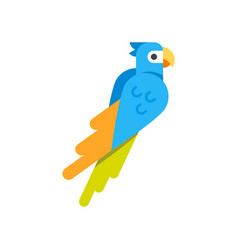 Flat style of parrot vector