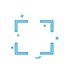 focus icon design vector image