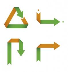 Folding arrows collection vector