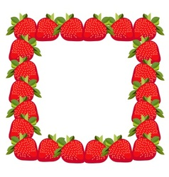 Frame strawberries vector