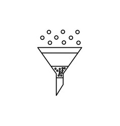 Funnel with filter icon vector