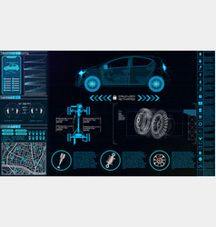 Futuristic user interface car service hud ui vector