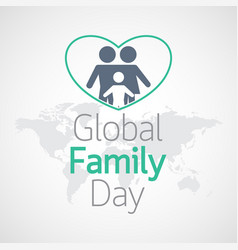 Global family day icon vector