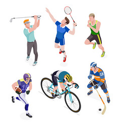 Group of sports people vector