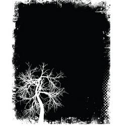 Grunge tree vector