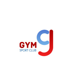 gym emblem for fitness sport club branding design vector image