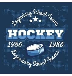 Hockey championship logo labels sport vector