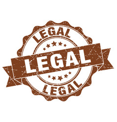 legal stamp sign seal vector image