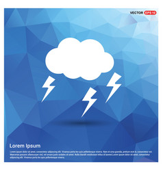 lightening cloud icon vector image