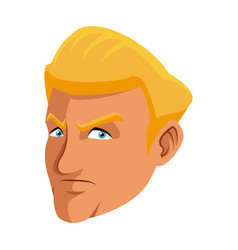looking man face in a cartoon comic book style vector image