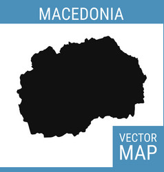 macedonia map with title vector image