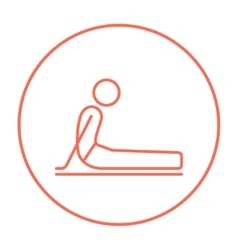 Man practicing yoga line icon vector image vector image