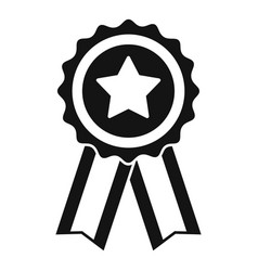 mission completed emblem icon simple style vector image