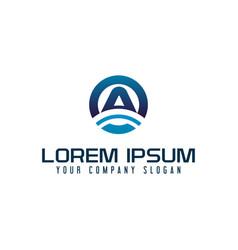modern letter a technology logo design concept vector image
