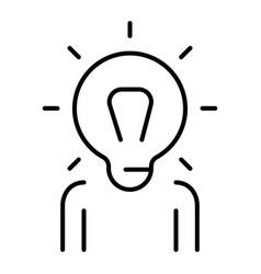 monochrome simple generation ideas icon vector image