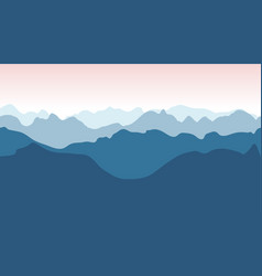 mountains landscape early on the sunset vector image