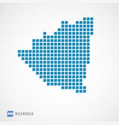 nicaragua map and flag icon vector image