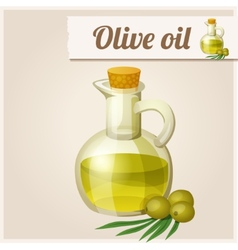 Olive oil in bottle vector