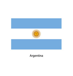 original and simple argentina flag vector image