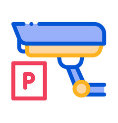 parking camcorder icon outline vector image