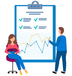 people fill out questionnaire colleagues vector image
