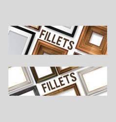 picture framing set of banners flyers vector image