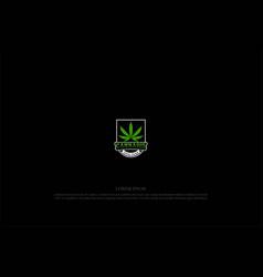 Retro vintage cannabis marijuana ganja leaf badge vector