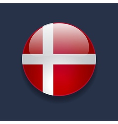 Round icon with flag of Denmark vector