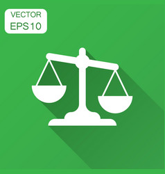 Scale comparison icon in flat style balance vector