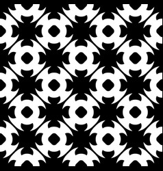 seamless pattern black white floral texture vector image