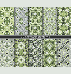 set of seamless abstract pattern vector image