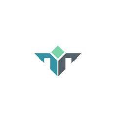 Shape geometry leader company logo vector