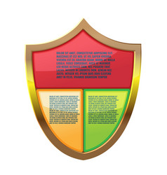 shield color info graphic template vector image
