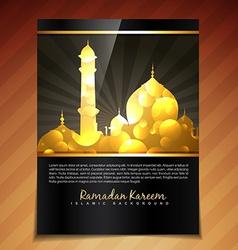 Shiny golden template vector