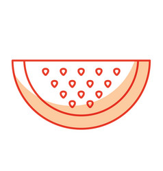 Slice of sweet watermelon vector