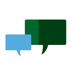 speech bubbles message communication dialog vector image