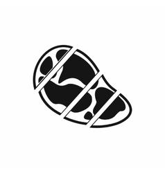 Steak icon simple style vector