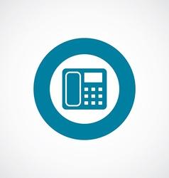 telephone icon bold blue circle border vector image