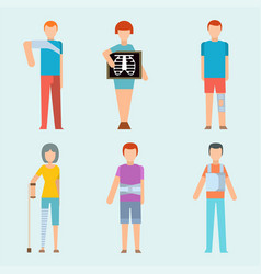trauma accident fracture human body safety vector image