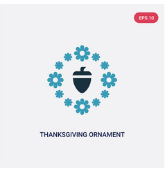two color thanksgiving ornament icon from united vector image