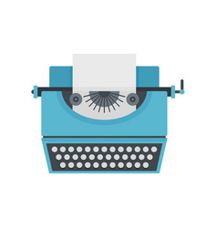 Vintage typewriter icon flat style vector