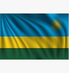 Waving rwanda vector