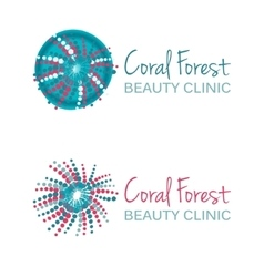 With coral symbol Logo design vector