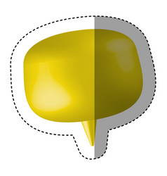 Yellow chat bubble icon vector