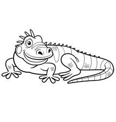 Iguana outline vector image vector image