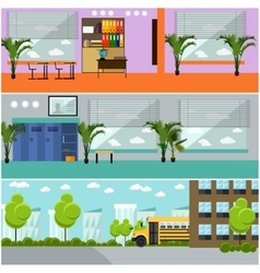 set of school concept banners Interior vector image vector image