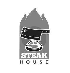 steak house restaurant or meat grill barbecue cafe vector image vector image